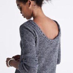 Madewell et Sezane Brigitte v-back cropped sweater